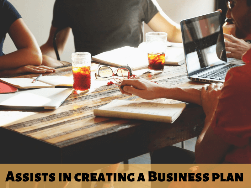 Assists in creating a Business plan