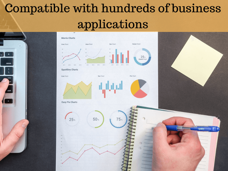 Compatible with hundreds of business applications