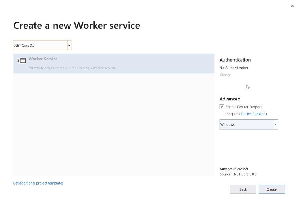 new worker service