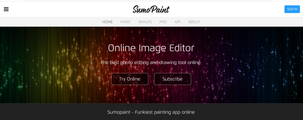 Free Photoshop site Sumo paint