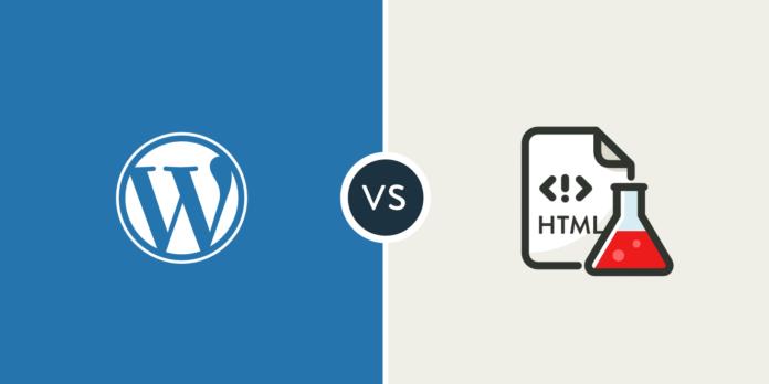 wordpress-vs-html
